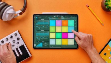 audio production on latest ipad pro 12.9-inch display