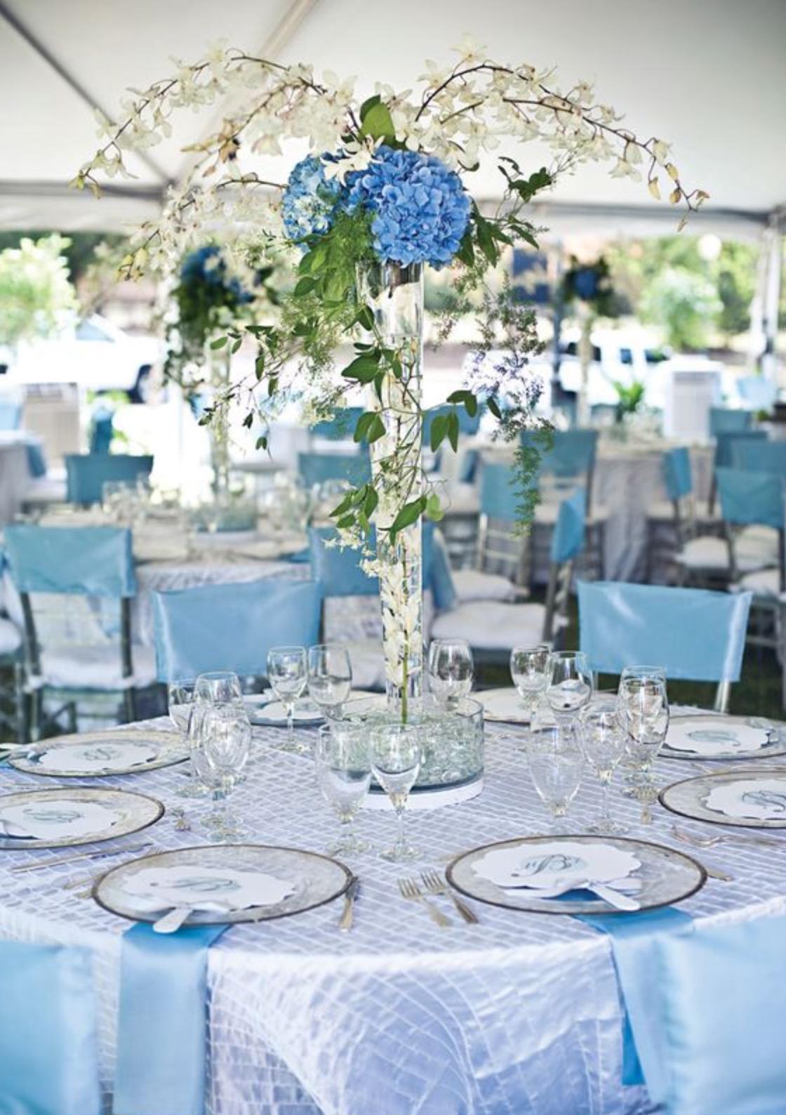 Dekorasi Pesta Pernikahan Berwarna Biru