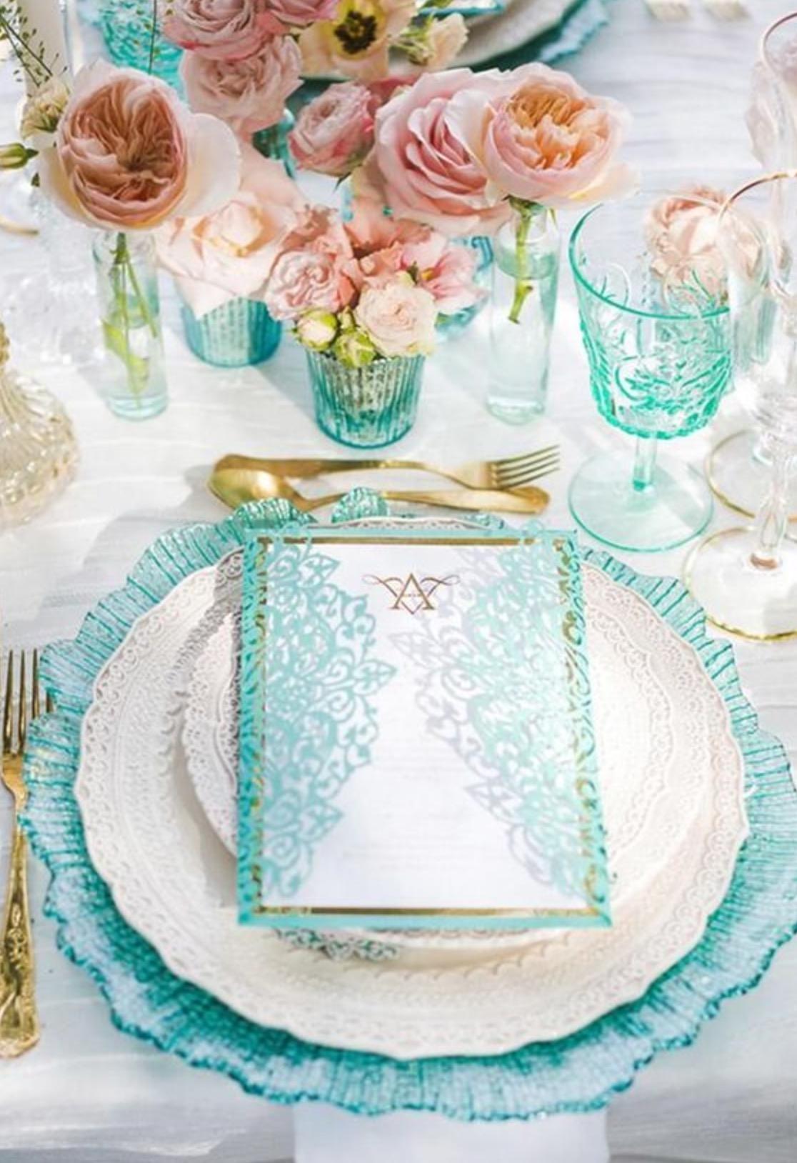 Konsep Dekorasi Pesta Pernikahan Warna Biru