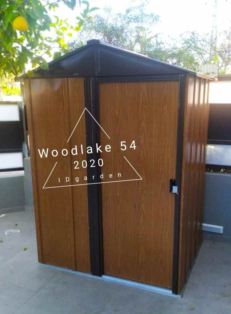 מחסן מתכת דמוי עץ WOODLAKE