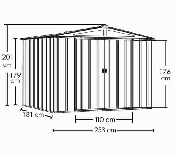 מפרט מחסן מתכת איכותי SPACEMAKER 86