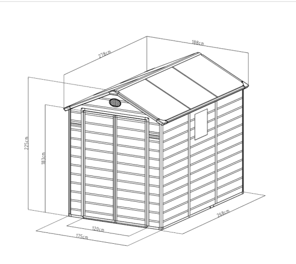 מחסן פלסטיק HIPPO