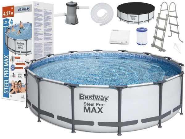 בריכה עגולה BESTWAY דגם 56950 סדרת PRO MAX החדשה חזקה במיוחד!