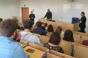 Marcin Kowalczyk na spotkaniu w IDI