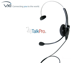 Parrott VXI TalkPro USB Headset and noise cancelling mic for Dragon Dictate speech voice recognition