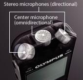 Olympus LS-3 Tresmic Mic System - 3 Microphones