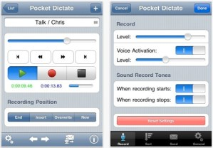 PocketDictate Digital Dictaphone App from NCH Screen Shot