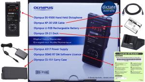DS9500 Olympus DS-9500 digital dictation kit