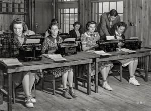 Image of Typing Pool using Typewriters