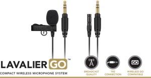 RODE Lavalier GO black or white professional grade condenser mic for Wireless GO in black or white