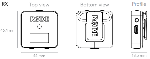 Rode Wireless GO RX Receiver all round view