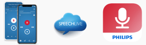 Philips SpeechLive and Dictation Hub options with the Recorder App