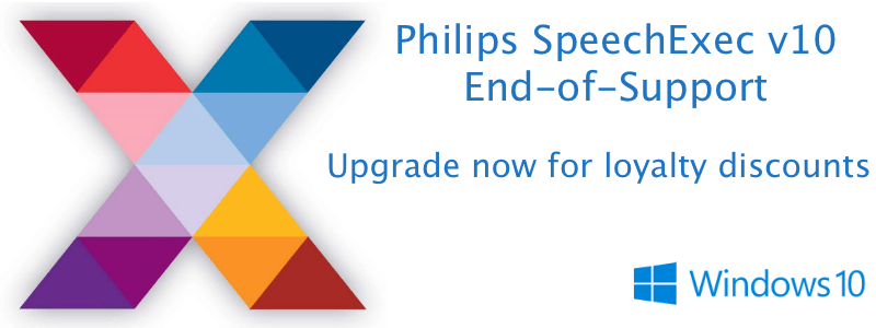 Philips Australia SpeechExec v10 EOS End of Support Upgrade Options