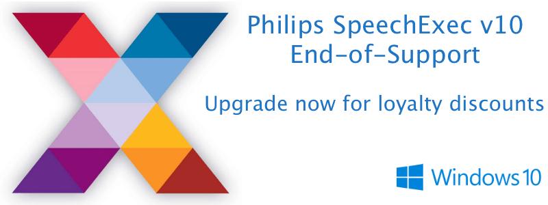 Philips Australia SpeechExec v10 EOS End of Support Upgrade Options