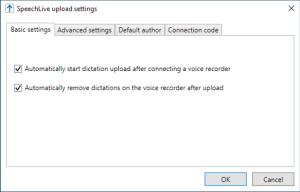 Philips SpeechLive Upload Client - Advanced Settings Explained