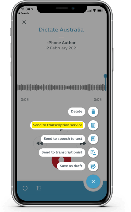 Philips Speech Live App Transcription Service