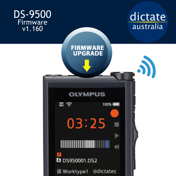 Olympus DS-9500 Firmware Download Release Notes v1.160