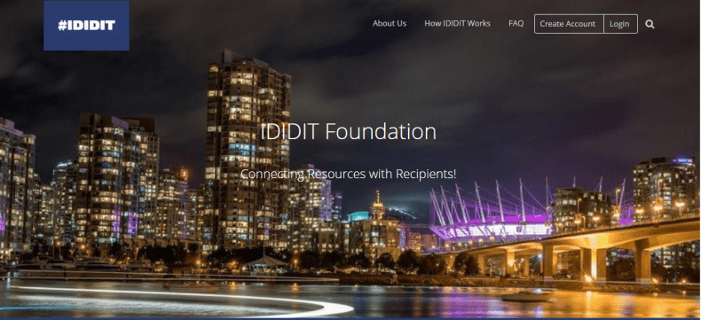 IDIDIT Foundation Resources with Recipients