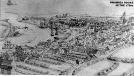 An early Swansea town illustrated as it would have been in 1790