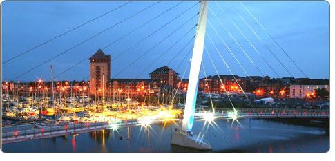 Swansea marina Bridge over the Tawe