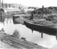 The River Tawe in Swansea near Foxhole showing the results of the decayed industry of the Copper Works and Railways