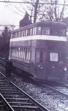 Mumbles Train walking the tracks