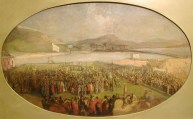Ceremony of cutting the Sod in Swansea for the south Dock - 1852