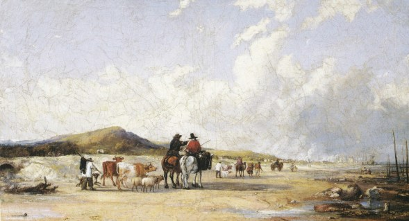 Going to market in swansea along the beach
