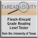 Flesch-Kincaid Reading Grade Reading Level Tester