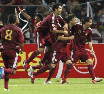 Venezuela contra Argentina en las eliminatorias a Brasil 2014.