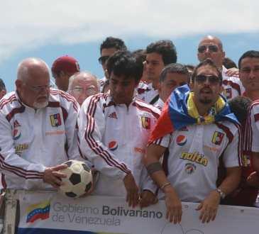 La celebración de Venezuela tras la Copa América Argentina 2011