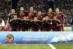 El XI de Venezuela contra Paraguay en la fase de grupos de la Copa América Argentina 2011.