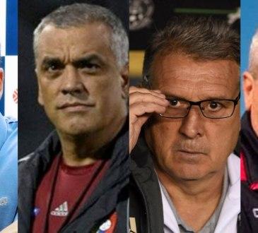Daniel Farías, Richard Páez, Gerardo Martino y José Hernández