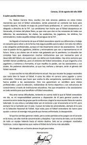 Comunicado de Nelson Carrero