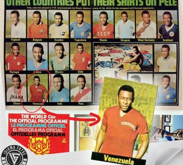 Pelé con la camiseta de Venezuela.