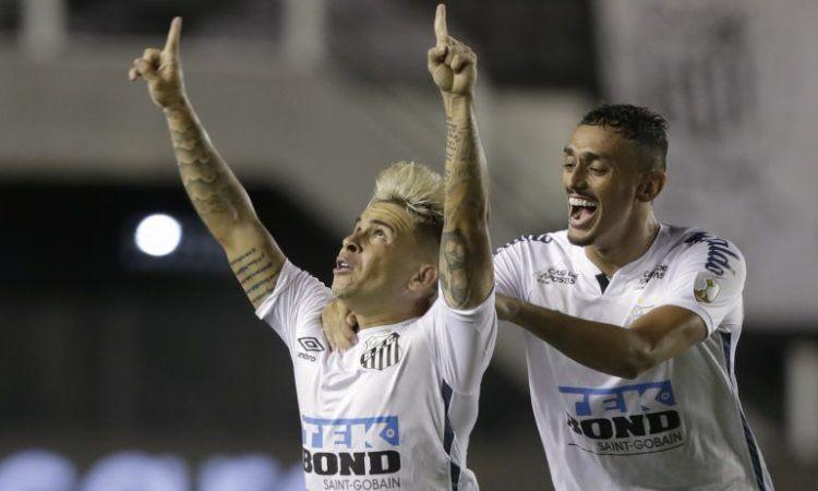 Yeferson Soteldo celebra su gol ante Boca.