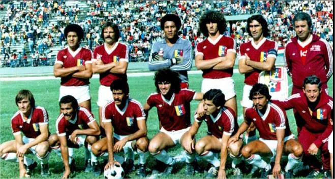 La Vinotinto de 1981.