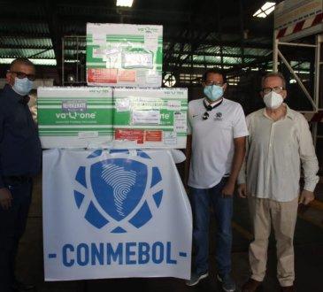 Las vacunas de la Conmebol, donadas por la empresa china Sinovac