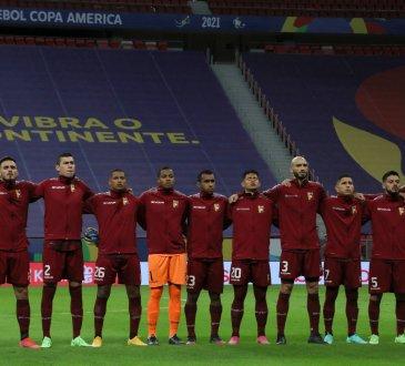 Venezuela en la derrota 1-0 ante Perú