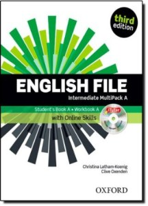 libro de ingles english file intermedio multipack a