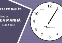 horas em inglês - 1 hora da manhã em inglês