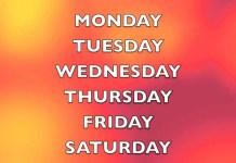 Dias da Semana em Inglês com Música
