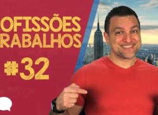 Profissões em Inglês: Aula de Inglês Básico 32 com Paulo Barros