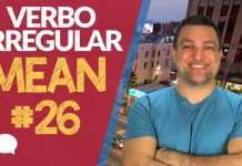 verbo irregular mean