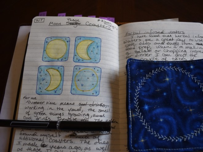 Moon Phase Coasters Sketch