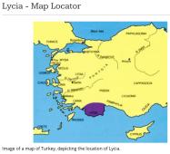 Location of Lycia
