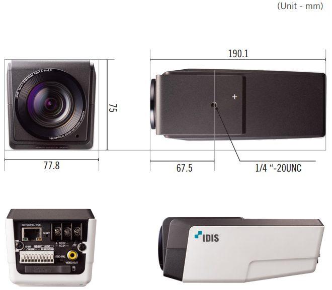 DC-Z zoom camera afmetingen