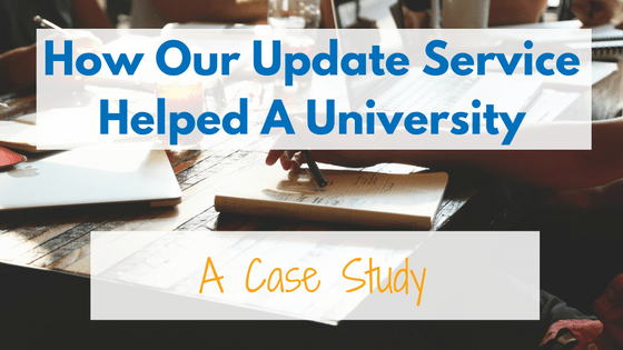 See how our update service helped Taylor University get a 27% impact to their contact data and increased donations for their phon-a-thon.