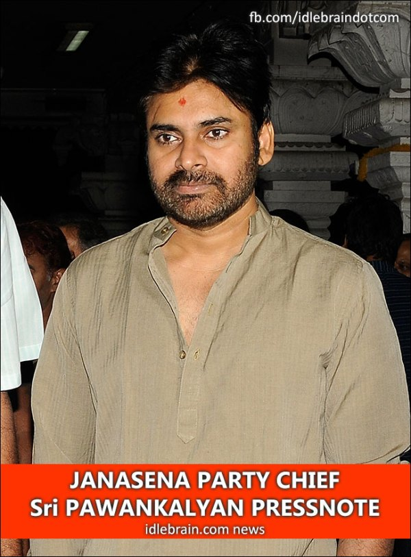 JANASENA PARTY CHIEF Sri PAWANKALYAN PRESSNOTE - Telugu ...