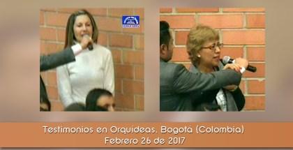 Testimonios en Orquídeas, Bogotá (Colombia) Febrero 26 de 2017